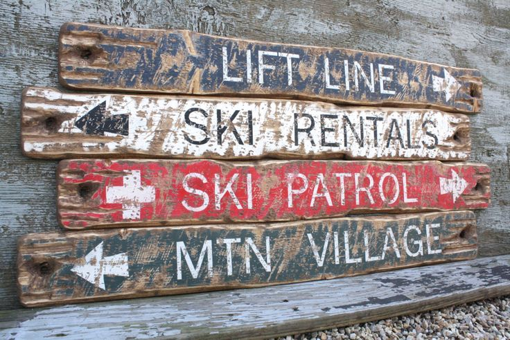 Top 30 ideas about ski lodge log cabin signs on for Cabin signs wood