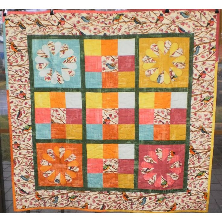 Gorgeous Love Birds Quilt by Frankensteins Fabrics now only $106.80