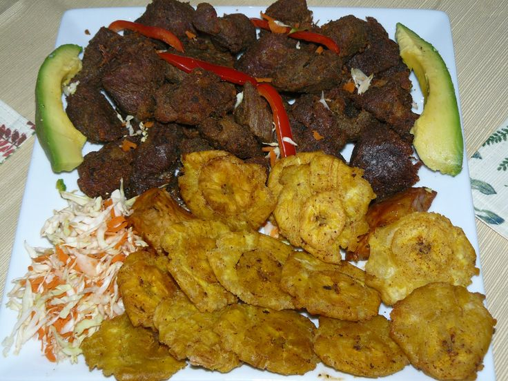 Pork is also consumed in Haiti, but it is much rarer than chicken. Pork is also prepared with lots of curry. It is usually just as spicy as the chicken!
