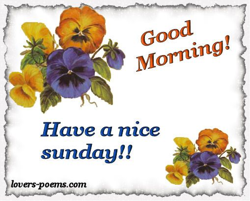 Happy Sunday Greetings | ... Happy Birthday, Love Messages, Words, Romantic Poems: Sunday Messages