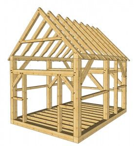 12x16 Timber Frame Shed  -  http://timberframehq.com/timberframehouseplansandkits/12x16-timber-frame-shed-plans/