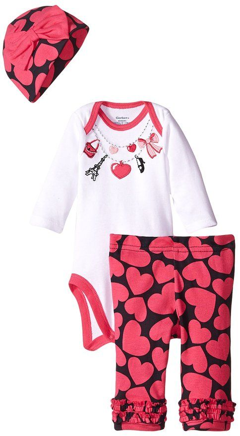 Amazon Gerber Baby Girls Three Piece Set with