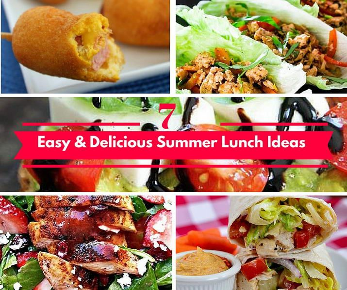 7 Easy & Delicious Summer Lunch Ideas - http://simplybeautiful.casa/7-easy-delicious-summer-lunch-ideas