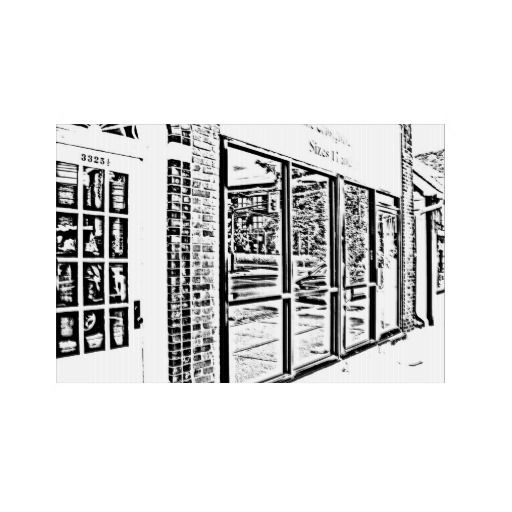 Modern Storefronts Digital Sketch
