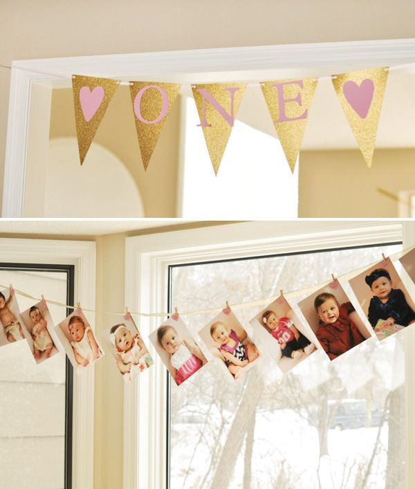 Sweet Pink and Gold First Birthday Party