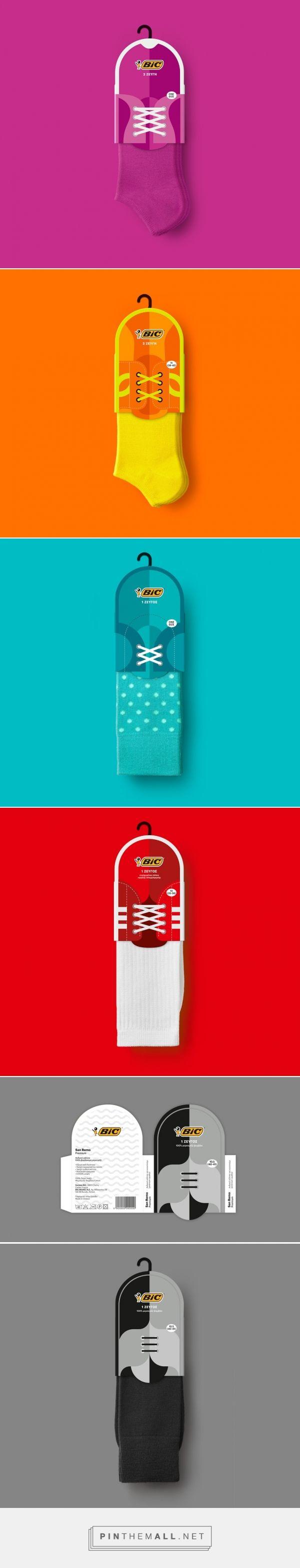 Bic #Socks #Packaging #Design by Mousegraphics (#Greece) - http://www.packagingoftheworld.com/2016/05/bic-socks.html