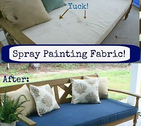 use regular spray paint on outdoor cushions spray painting fabric. Black Bedroom Furniture Sets. Home Design Ideas