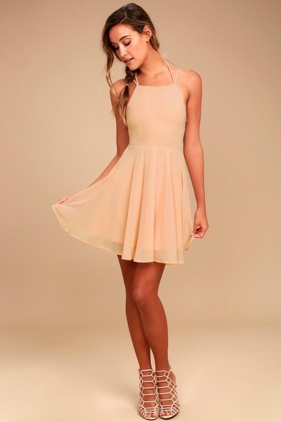 edb9f5a6bc17  EnvyWe  Lulus -  Lulus Good Deeds Blush Pink Lace-Up Dress - Lulus -  EnvyWe.com