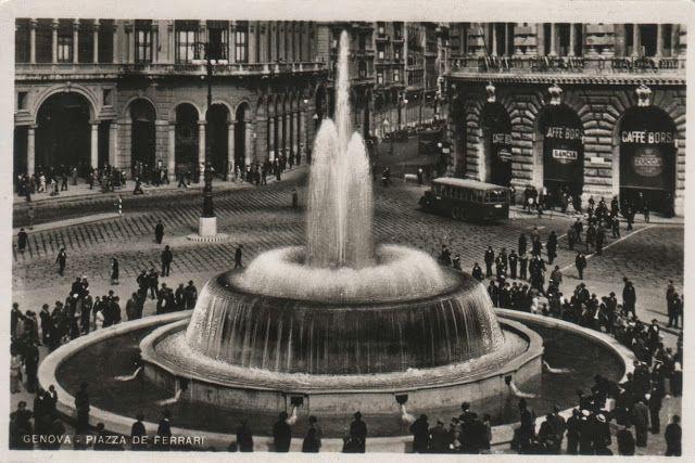 Piazza De Ferrari - 1936  Inaugurazione della fontana