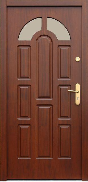 Drewniane wejściowe drzwi zewnętrzne do domu z katalogu modeli klasycznych wzór 578s2