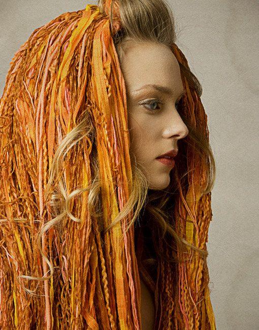 Textured Yarn Wig in Sunburst. $400.00, via Etsy.