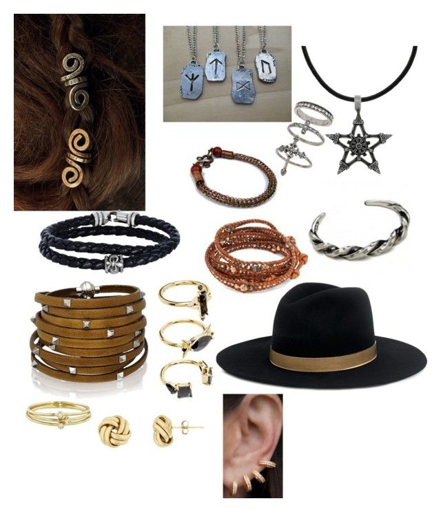 """Maggie's accessories"" by callmecloge on Polyvore featuring Carolina Glamour Collection, Rune NYC, Phillip Gavriel, Chan Luu, Sif Jakobs Jewellery, Janessa Leone, Noir Jewelry, Jennifer Meyer Jewelry, Miss Selfridge and Anne Sisteron"