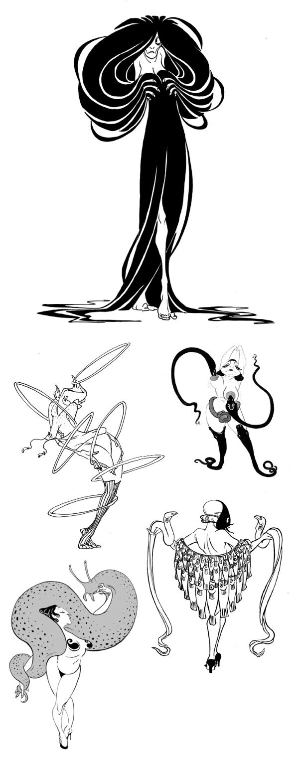 Character sketches 2013 by A. Wilkenfeld, via Behance