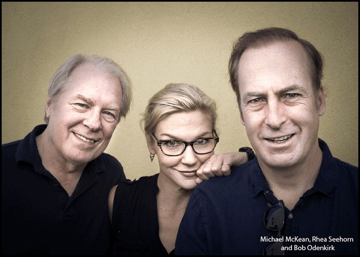 Michael McKean, Rhea Seehorn and Bob Odenkirk photographed by Kim Jew