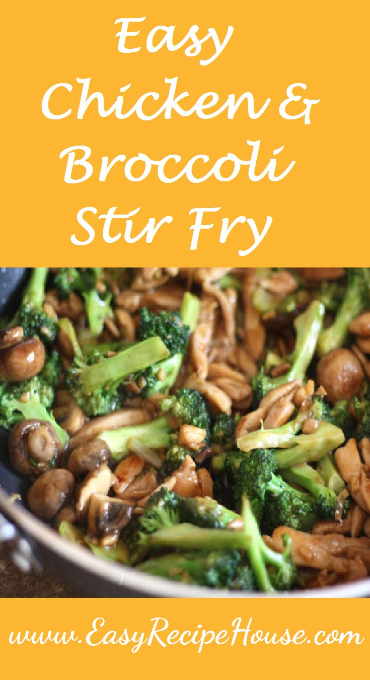 Easy Chicken and Broccoli Stir fry- Quick and Easy 10 Minutes Dinner Recipe, Perfect for Midweek Dinner