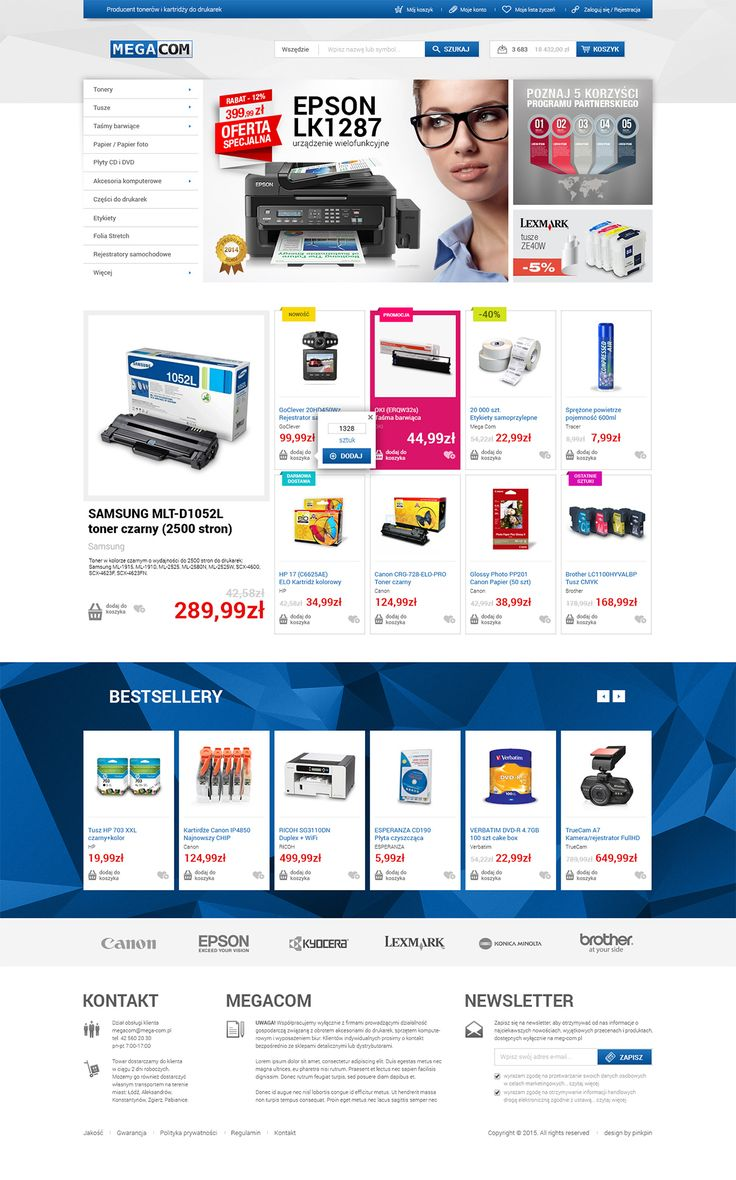 ink print shop web design