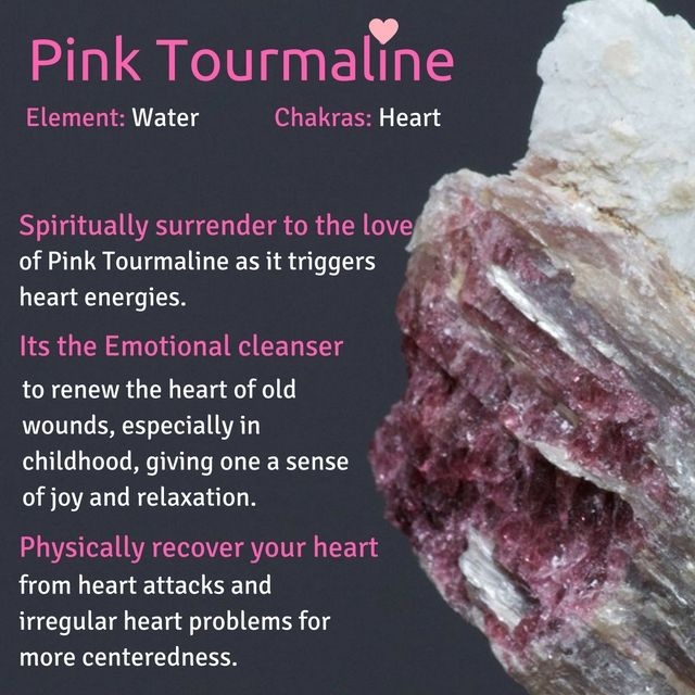 Pink tourmaline for the hearty chakra