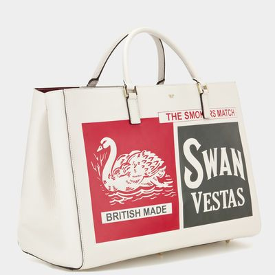 Anya Hindmarch Autumn Winter 2014, Swan and Vesta Maxi Featherweight Ebury