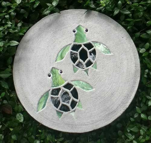 Hatchlings Stepping Stone to go in concrete foundation to make a path to front door along with big sea turtle stepping stones