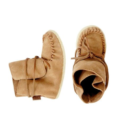 Moka Lace Up Moccasins - mini mioche - organic infant clothing and kids clothes - made in Canada