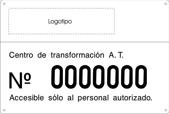 Señal identificación de centro de transformación