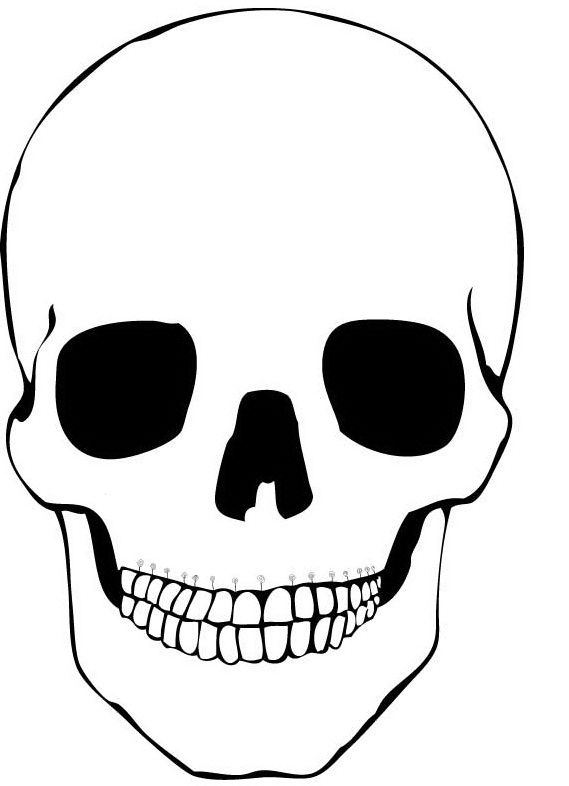 day of the dead skull mask template - simple and plain skull coloring pages