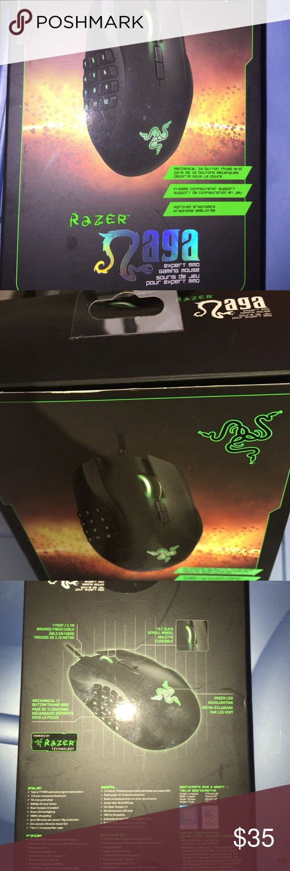 Razer Naga Mouse new in package - New in box with receipt. Paid 68.89- 35.00 firm - will ignore offers. Accessories