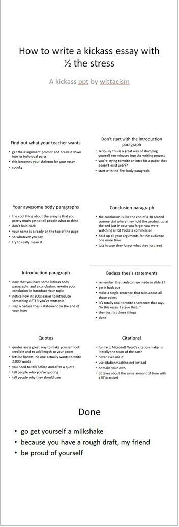best back to school✏ principles practices images on  how to write an awesome essay literally the best powerpoint ever created where was this when i started school