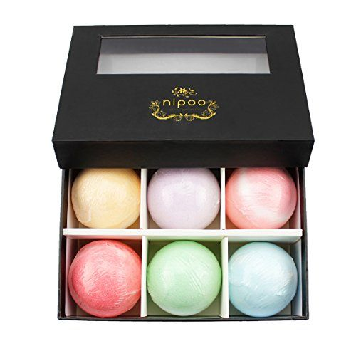 NIPOO 6 Pack 3.5 OZ Bath Bomb Gift Set - All Natural Essential Oils  //Price: $ & FREE Shipping //     #hair #curles #style #haircare #shampoo #makeup #elixir