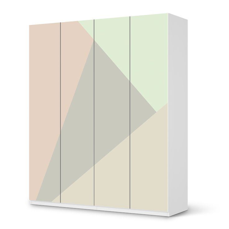 m belfolie ikea pax schrank 236 cm h he 4 t ren design pastell geometrik kinderzimmer in. Black Bedroom Furniture Sets. Home Design Ideas