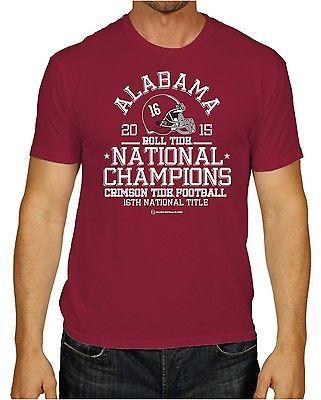 Alabama Crimson Tide 2016 College Football Playoff Champions Red T-Shirt