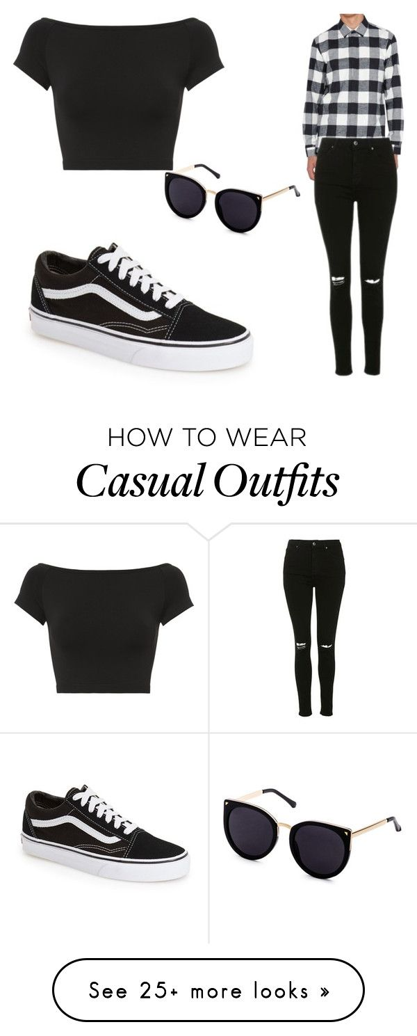 """Casual Outfit"" by michelle0123 on Polyvore featuring Neil Barrett, Topshop, Vans and Helmut Lang"