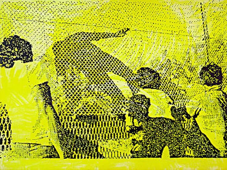 Sigmar Polke, Amerikanisch-Mexikanische Grenze, 1984