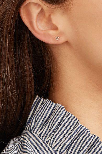 Catbird - Alphabet 14-karat Gold Earring -