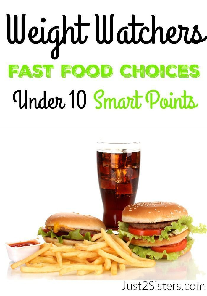 Weight Watchers Fast Food Choices Under 10 Smart Points. Eating at fast food places is not ideal but also not impossible while on a Smart Points Plan.