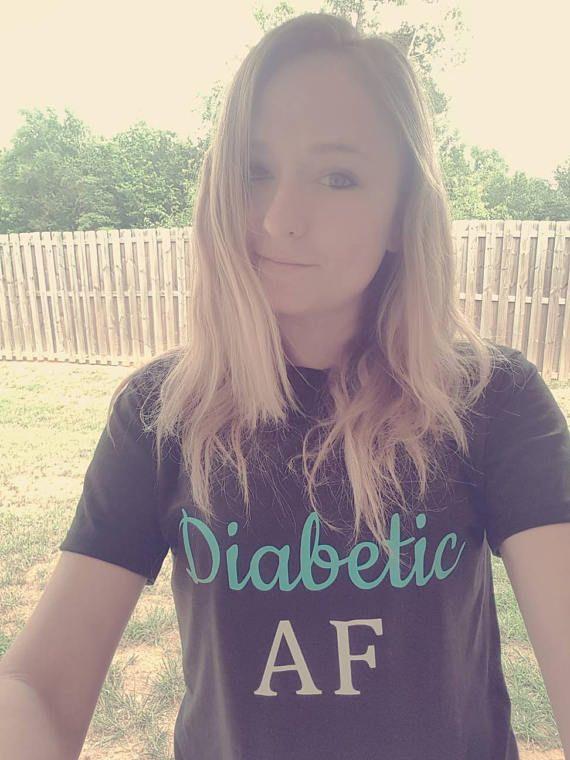 Diabetic gift. Diabetic af shirt. Diabetes shirt. Diabetes