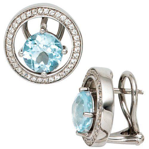 Damen-Stecker 2 Blautopase 14 Karat (585) Weißgold 2 Topas 72 Diamant 0.36 ct. Dreambase, http://www.amazon.de/dp/B00EYGVPPA/ref=cm_sw_r_pi_dp_ShS6sb0NBMBFG