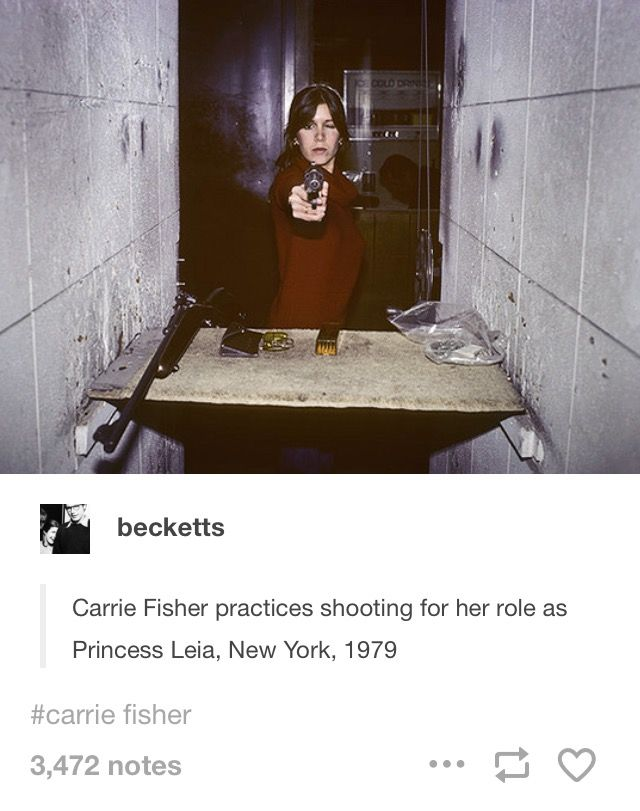I love that despite all her practice she was never able to not close her eyes when she was shooting.