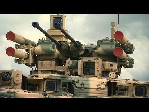 """BMPT """"Terminator"""" Tank in Action / Firing All Its Powerful Cannons 