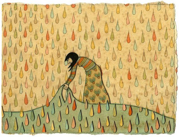 mel kadel - coffee stained illustrations
