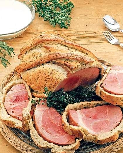 il prosciutto cotto di Praga in crosta