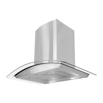 Cosmo 668A Wall Mount Stainless Steel Range Hood with LED Lighting
