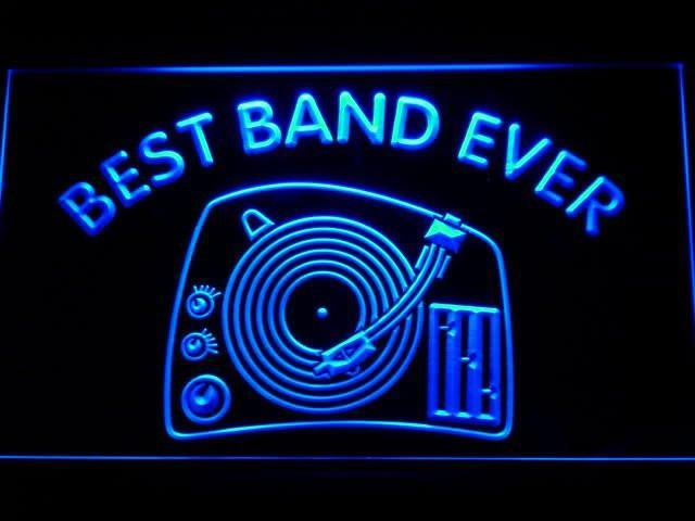 DJ Turntable Mixer Best Band Ever LED Sign