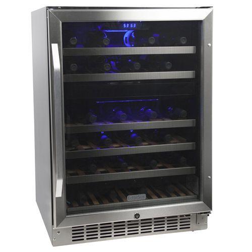 EdgeStar 46 Bottle Built-In Dual Zone Wine Cooler
