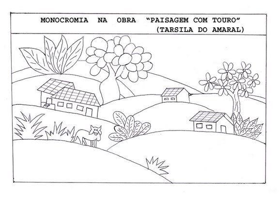 Tarsila Amaral Colorir1 Tarsila Amaral Atividades De Arte Tarsila