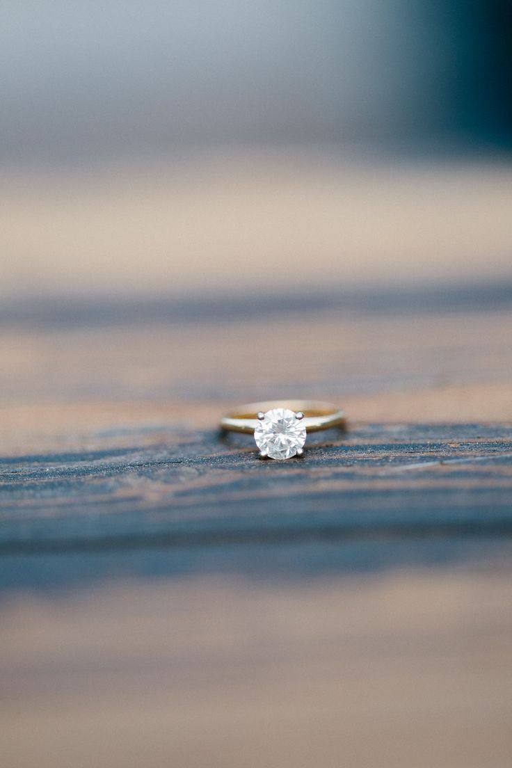 """""""David truly enjoyed his shopping experience at Cumberland Diamond Exchange. Armed with an iPad full of pictures of Ashley's dream ring, David worked with Tamara Jean and Mark Jacobson to make her vision a reality. They were able to create a custom gold band and found the perfect diamond solitaire. As nerve racking as the whole ring buying process seemed, the staff at CDE made it as painless as possible!""""  #PaigeMolinaPhotography  #CumberlandDiamondExchange #CDE #rounddiamond #diamondring…"""