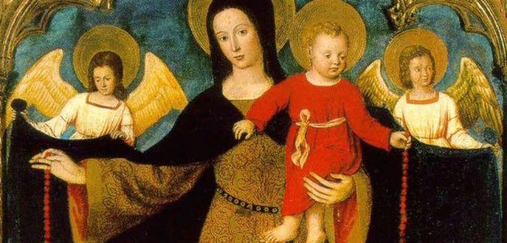 """Jaar van barmhartigheid   Toevlucht vinden in onze lieve vrouw Door meest Rev. Javier Echevarria het vroegste gebed tot Maria dat naar beneden naar ons is gekomen een petitie gericht aan onze dame door de christenen is van Egypte in de derde eeuw, roepen haar als moeder van God: """"Sub tuum præsídium confúgimus, sancta Dei Génetrix..., vliegen we naar uw patronage, O heilige moeder van God. […]"""
