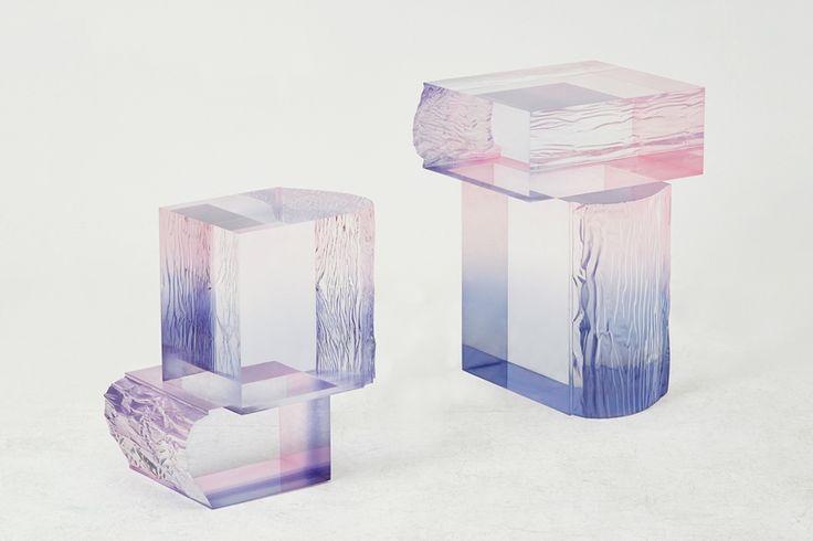 saerom yoon crystal series raw edition acrylic resin designboom
