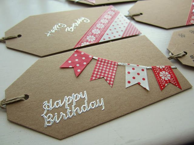 Washi Tape Cards / Tarjetas washi tape ideas - homemade gift tags