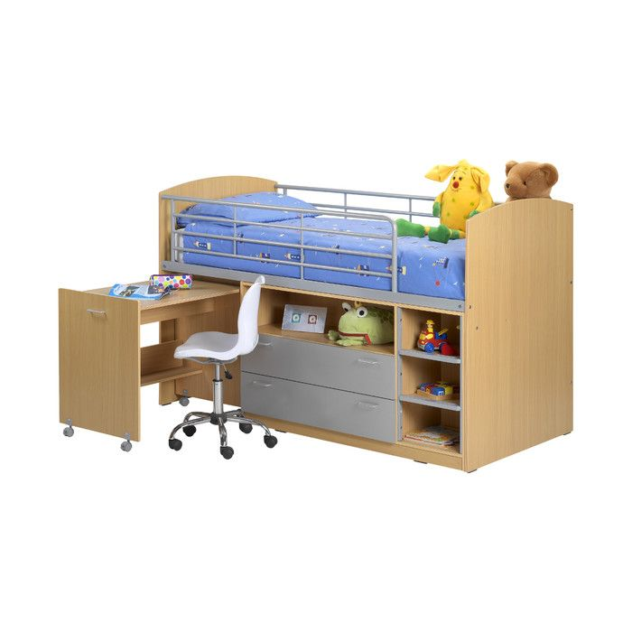 All Home Zodiac Single Mid Sleeper Bed with Storage & Reviews | Wayfair UK